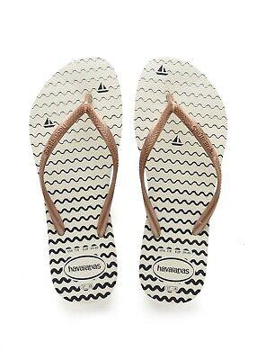 New Havaianas Flip Flops Sandals Beach Scene Womens Sz 7 /8 US