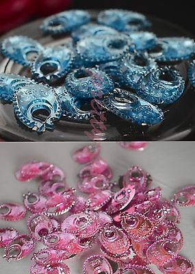 200PC Baby Shower Decorations Table Confetti-Craft BLUE-PINK Bibs Party Boy-Girl](Pink And Blue Table Decorations)