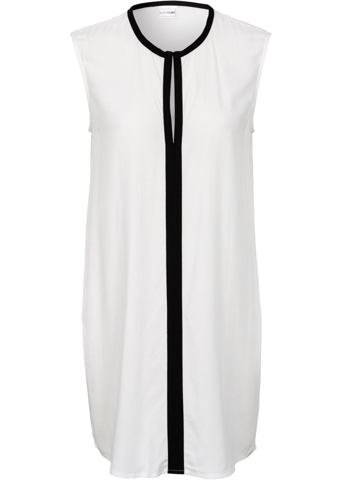 Damen Top Bluse weiß schwarz figurumspielend edel  XS S M L XL XXL neu 941
