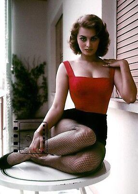 """Sophia Loren 5""""x 7"""" Fine art photography Color from Private Collection REPRINT"""