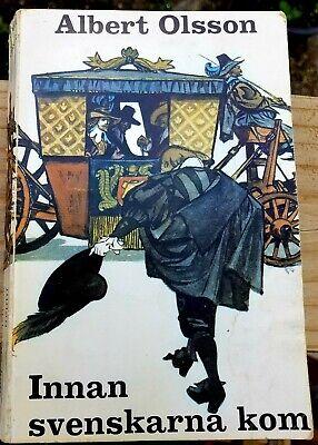 RARE - Albert Olsson - Innan svenskarna kom - Swedish Paperback Book - 1966