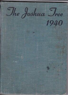 1940 Victor Valley High School Year Book, Joshua Tree, Victorville, (Victor Valley California)
