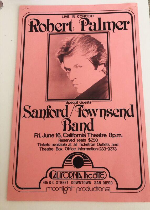 Robert Palmer Original Promotional Poster