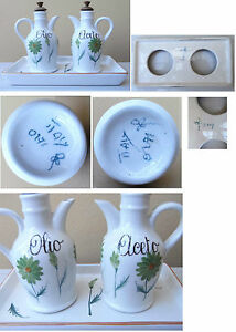 Flower-Painter-vintage-Italian-ceramic-olio-aceto-set-pottery-1960-1970