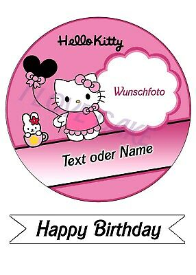 Tortenbild,Tortenfoto,Tortenaufleger Hello Kitty (Fontant Papier)