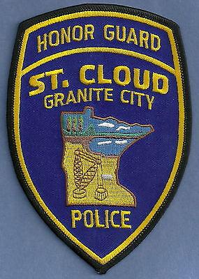 ST. CLOUD MINNESOTA POLICE HONOR GUARD PATCH