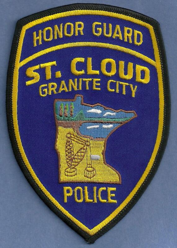 ST. CLOUD MINNESOTA POLICE HONOR GUARD SHOULDER PATCH