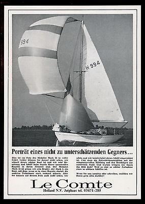 Grosse  Werbung Reklame 1966 Segelyacht Medalist Mark II  Le Comte (2)  Holland