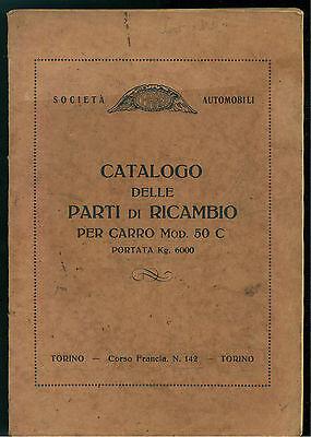 CEIRANO AUTOMOBILI TORINO CATALOGO DELLE PARTI DI RICAMBIO PER CARRO MOD. 50 C.