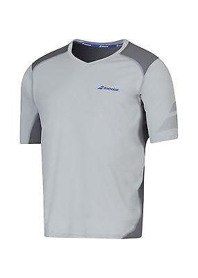 TOP-RABATT*: Babolat Performance Tshirt V-Neck Grau Funktionsshirt Tennis