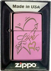 Zippo-Gasolina-Mechero-LOVE-HEART-Amor-Corazon-con-o-sin-SET-DE-REGALO-60000059