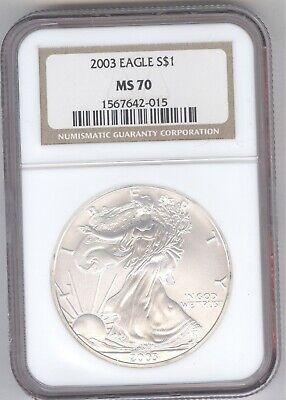 2003 Eagle S$1 MS 70 + American Silver Eagle + NGC + No Reserve!