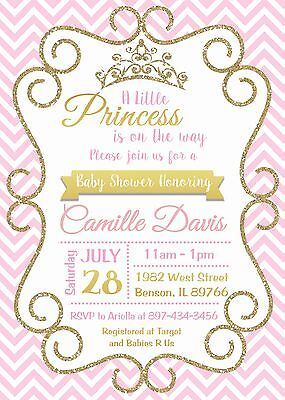 Princess, Baby Shower, Pink, Baby Shower Invitation, Princess Invitation - Princess Invitations
