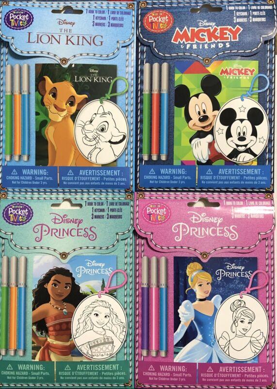 New Color Craft Pocket Tivity Disney Activity Lot of 4 *Mint* Mickey Mouse +++