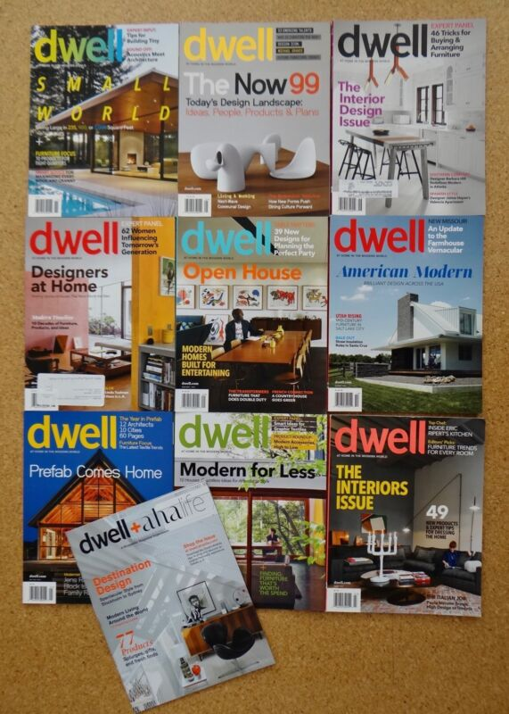 9 Dwell Magazines 2012-2013 Modern Pre-Fab Green Architecture Design Interior