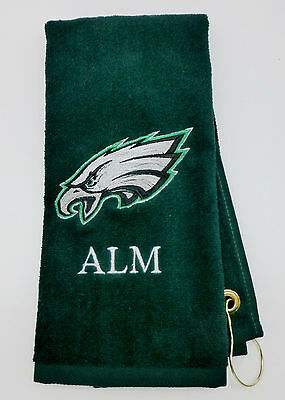 Personalized Embroidered Golf/Bowling Towel Philadelphia Eagles NFL Eagles Embroidered Golf Towel