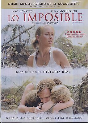 SEALED - Lo Imposible - The Impossible DVD NEW Naomi Watts BRAND NEW