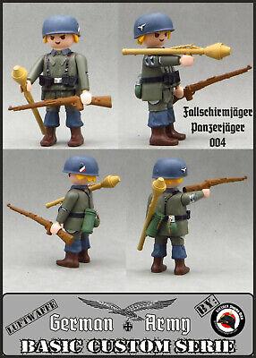 Playmobil Custom WW2 PARACAIDISTA ALEMAN Panzer Jäger GERMAN SOLDIER SOLDADO