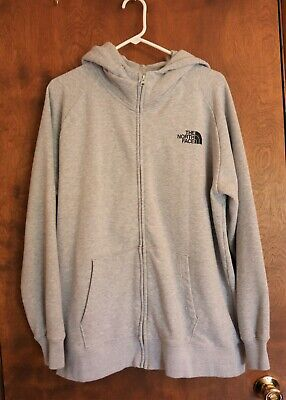 The North Face Gray Full Zip Hoodie Womens Size XXL