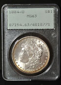 1884 O Morgan Silver Dollar MS 63