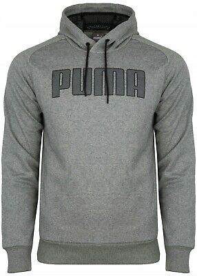 PUMA mens hoody pullover sweatshirt jumper hoodie top S M L XL fleece lined grey