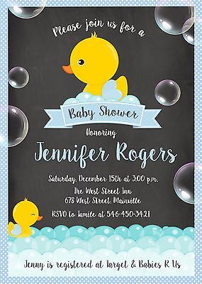 Duck, Ducky, Baby Shower Invitation Ducky Baby Shower Invitation
