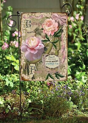 - Cottage Pink Roses Double Sided Soft Flag  **GARDEN SIZE** FG1345