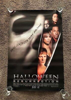 Halloween: Resurrection Original D/S Movie Poster 27 x 40 Michael Myers / Curtis](Movie Halloween Resurrection)