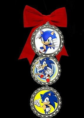 sonic the hedgehog bottlecap christmas ornaments tree decorations fast free ship