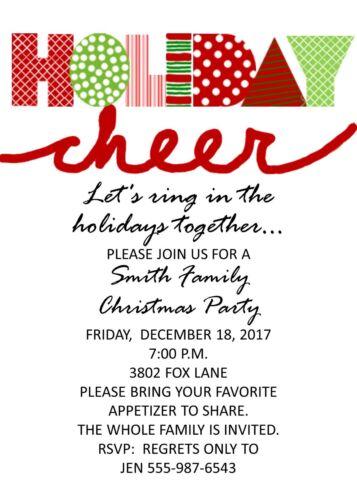 Holiday Cheer Holiday Christmas Party Invitation