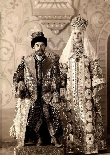 Emperor Nicholas II & Empress Alexandra Feodorovna in Costume-1903 PHOTO