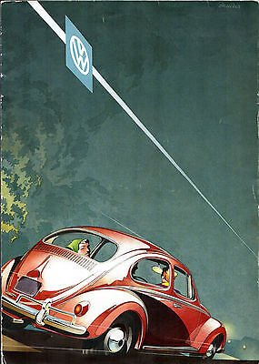 Volkswagen Beetle 1200 1957-59 UK Market Sales Brochure Saloon Convertible