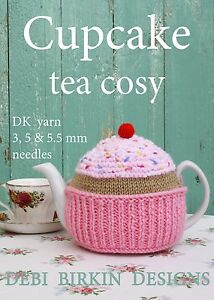 Cupcake Tea Cosy knitting pattern Cosies cozy cozies food cake