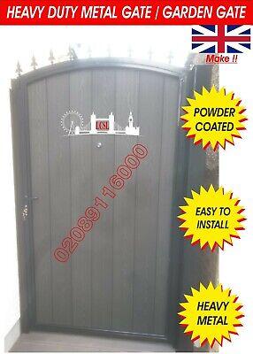 METAL GATE - WOODEN DOOR - TIMBER WOOD INFILL GATE - COMPOSITE WOOD GATE - DOOR