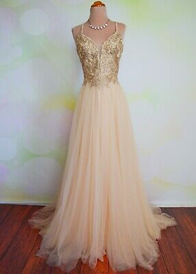 PROM 2020 EVENING PAGEANT FORMAL BALL GALA DRESS WEDDING GOWN 2XL 12/14 MARLENE Pageant Gala Gown Dress