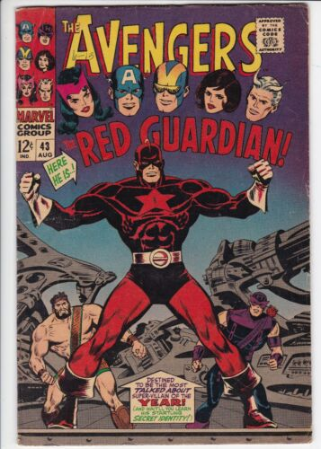 Avengers # 43 VG/FN (5.0) 1st Red Guardian. Marvel. W/OW pages