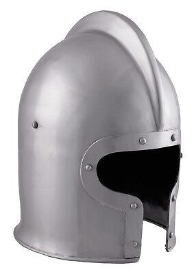 Battle Merchant Italienisch Barbuta Helm 1,6 mm Stahl Mittelalter LARP
