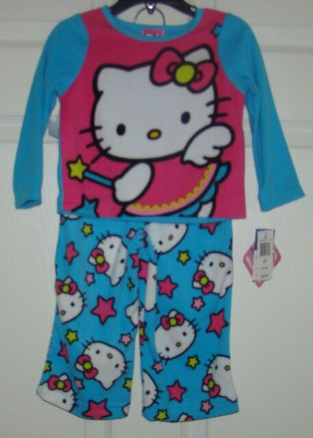 0e850042b Girls Size 2t Hello Kitty 2 Piece Fleece Pajamas