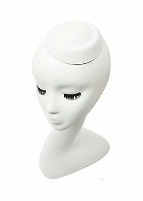 "White 5"" Oval Pillbox Stewardess Fascinator Millinery Hat Base -13 Colors"