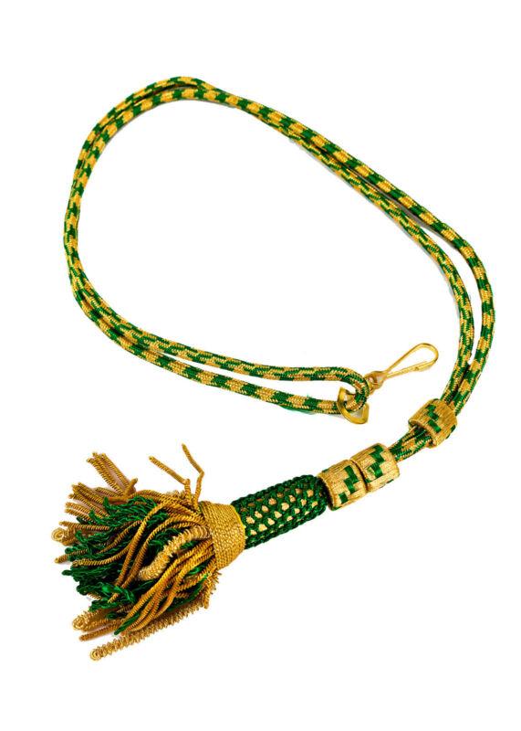 "New Bishop Tassel Pectoral Cord (Green/Gold 01) 32"", Clergy Vestment"