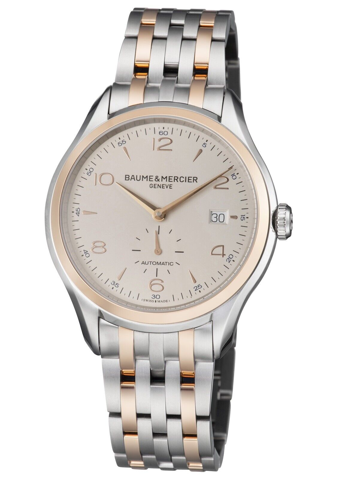 Baume & Mercier Clifton 18K Rose Gold & SS Automatic Men's Watch M0A10140 New - watch picture 1