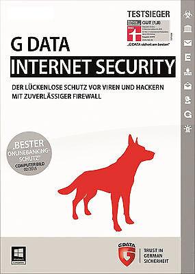 G DATA Internet Security 1 PC  2017 - Vollversion - per Email gebraucht kaufen  Sanitz