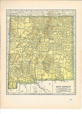 1942 Vintage NEW MEXICO Map ready to frame for art