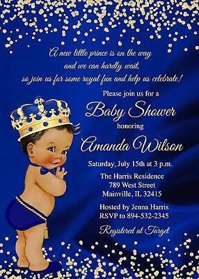 Baby Shower Invites Boy (Prince Baby Shower Invitation, Prince, Baby Shower, Boy, Gold, Invitation,)
