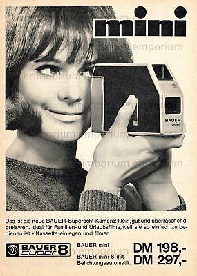 Bauer mini S Super 8 Kamera (12) - Original Anzeige von 1966