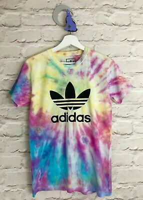 Adidas Originals Unisex Hand Tie Dyed T-shirt Festivals Ibiza S M L XL XXL