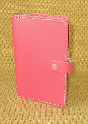 Personal 1 Rings Pink Leather Filofax Original Open Plannerbinder Uk