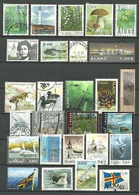 ALAND used stamps of Åland Islands - 27 different, incl. recent