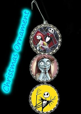 Jack Skeleton Decorations (Nightmare before Christmas jack skeleton sally ornaments tree)