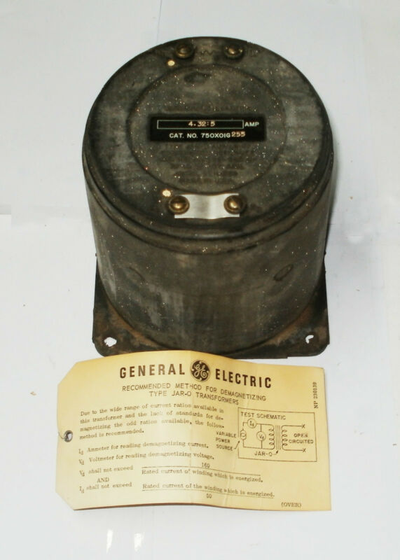GENERAL ELECTRIC 750X0IG255 TRANSFORMER AUXILIARY CURRENT